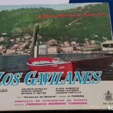 Discos de vinilo: LP CON LIBRETO( LOS GAVILANES - JACINTO GUERRERO Y JOSE RAMOS MARTIN )1961 HISPAVOX. Lote 284308938