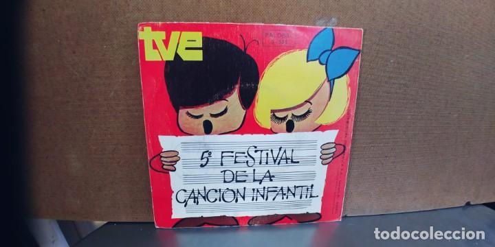 Discos de vinilo: 5º FESTIVAL DE LA CANCION INFANTIL-SINGLE CHIPI CHAPA - Foto 2 - 284359698