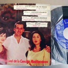 Discos de vinilo: ALECO PANDAS-ANGELA ZILIA Y MARY LO-EP 3 FESTIVAL DE LA CANCION MEDITERRANEA. Lote 284361518