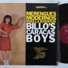 Disques de vinyle: BILLO'S CARACAS BOYS. MERENGUES MODERNOS PARA LA JUVENTUD. LP TROPICAL TRLP-5191. USA.. Lote 284394013