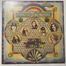 Disques de vinyle: CARPETA DEL LP LYNYRD SKYNYRD SECOND HELPING SEGUNDA AYUDA EDICIÓN ESPAÑOLA DE 1981. Lote 284400908
