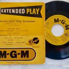 Discos de vinilo: SIETE NOVIAS PARA SIETE HERMANOS.HOWARD KEEL. JANE POWELL.BENDITA TU HERMOSURA + 3.EP ESPAÑA AÑOS 50. Lote 284494153