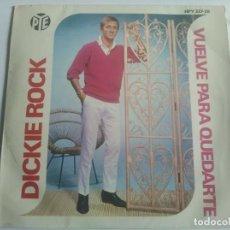 Discos de vinilo: DICKIE ROCK - COME BACK TO STAY ************** RARO EP ESPAÑOL 1966 EUROVISION IRLANDA. Lote 284512688