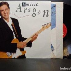 Discos de vinilo: EMILIO ARAGON - TE HUELEN LOS PIES - LP CBS 1.990 - INSERTO CON LETRAS DE CANCIONES PEPETO. Lote 284535108