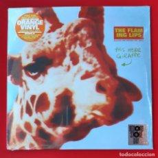 Discos de vinilo: THE FLAMING LIPS - THIS HERE GIRAFFE (10 PULGADAS EP) VINILO NARANJA. Lote 284634788