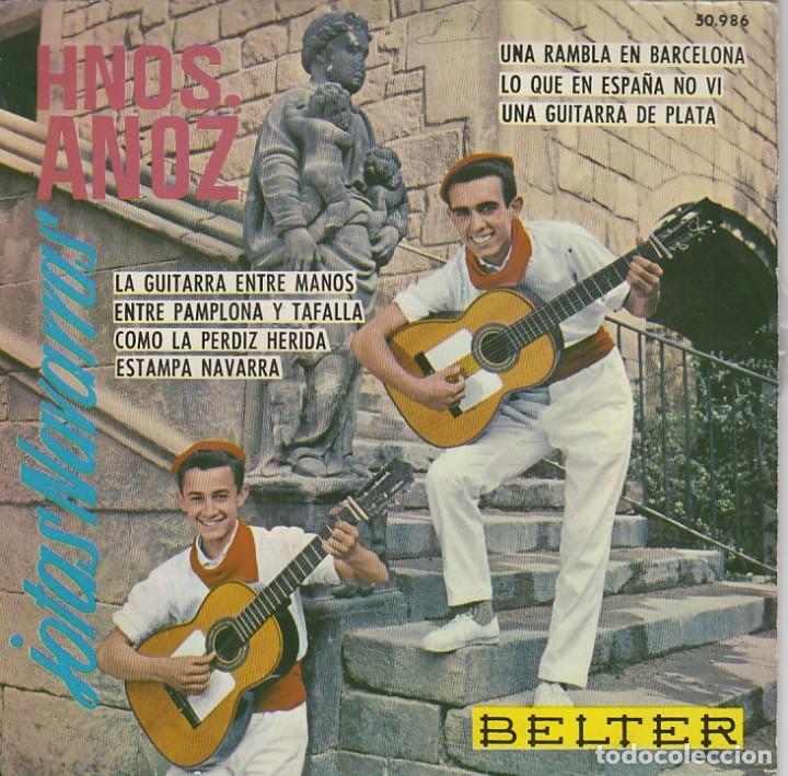 HERMANOS ANOZ. JOTAS, SINGLE DEL SELLO BELTER DEL AÑO 1.961 (Música - Discos - Singles Vinilo - Country y Folk)