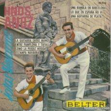 Discos de vinilo: HERMANOS ANOZ. JOTAS, SINGLE DEL SELLO BELTER DEL AÑO 1.961. Lote 284635828