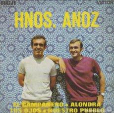 Discos de vinilo: HERMANOS ANOZ. EL CAMPANERO Y OTRAS. SINGLE DEL SELLO RCA (3-21098) DEL AÑO 1969. Lote 284636038