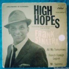 """Discos de vinilo: 1960 ANTIGUO VINILO 7 """" EP 45 RPM FRANK SINATRA HIGH HOPES (MILLONARIO DE ILUSIONES)... Lote 284703448"""