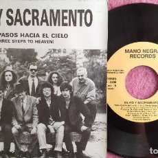 Discos de vinil: SINGLE SILVIO Y SACRAMENTO - TRES PASOS HACIA EL CIELO - D-0236 - PROMO (VG++/NM) 1-SIDED. Lote 284715123