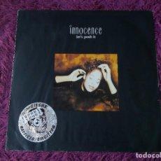 """Discos de vinilo: INNOCENCE – LET'S PUSH IT, VINYL 12"""" 1990 UK COOLX 220. Lote 284749893"""