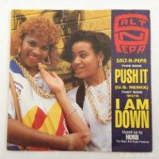 Discos de vinilo: SALT-N-PEPA – PUSH IT (U.S. REMIX)/I AM DOWN HOLANDA,1988 FFRR. Lote 284771913
