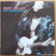 Disques de vinyle: EDDY GRANT - FILE UNDER ROCK (LP) 1988. Lote 284835798