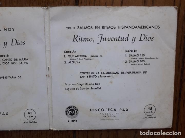 Discos de vinilo: Coros de la comunidad universitaria de San Benito de Salamanca - ritmo de juventud y dios - Foto 4 - 284949628