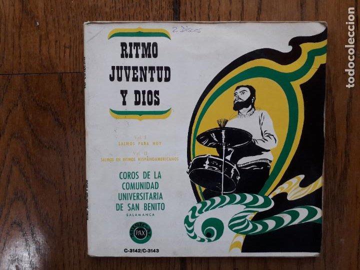 COROS DE LA COMUNIDAD UNIVERSITARIA DE SAN BENITO DE SALAMANCA - RITMO DE JUVENTUD Y DIOS (Música - Discos de Vinilo - EPs - Otros estilos)