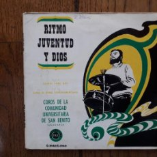 Discos de vinilo: COROS DE LA COMUNIDAD UNIVERSITARIA DE SAN BENITO DE SALAMANCA - RITMO DE JUVENTUD Y DIOS. Lote 284949628