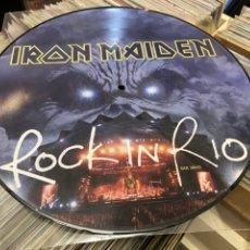 Discos de vinilo: IRON MAIDEN ROCK IN RIO PICTURE LP FOTO DISCO VINILO. Lote 285071438