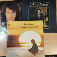 Discos de vinilo: LOTE 3 VINILOS NEIL DIAMOND MOODS JONATHAN LIVINGSTON SEAGULL. Lote 285071683