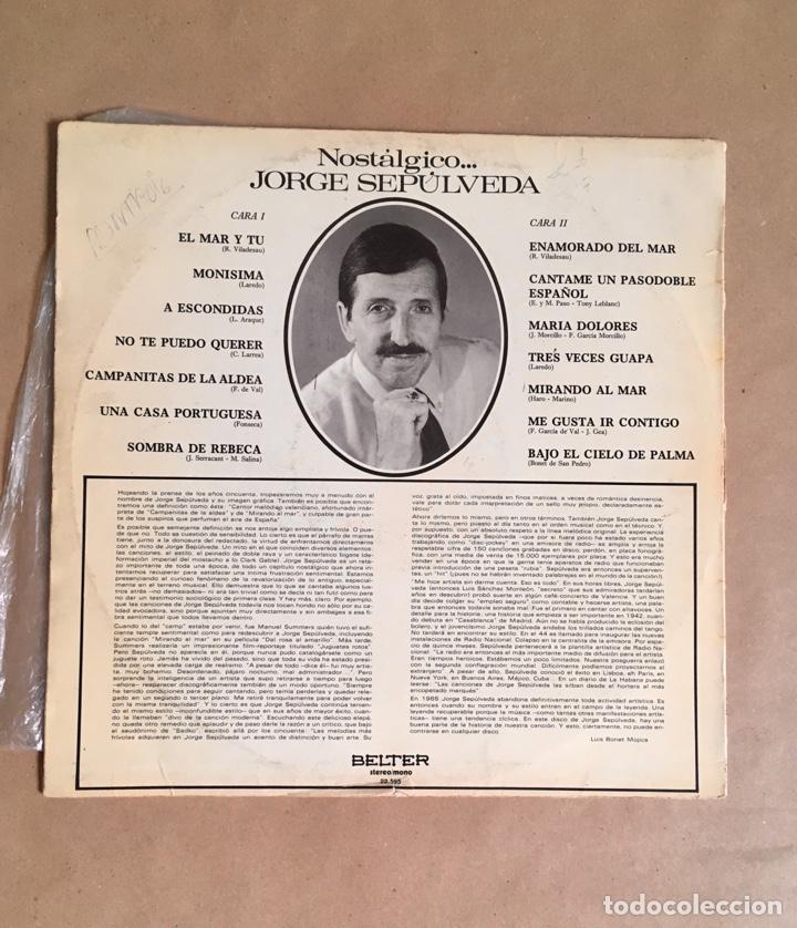 Discos de vinilo: Jorge Sepúlveda Nostálgico (años 70) - Foto 4 - 285098598
