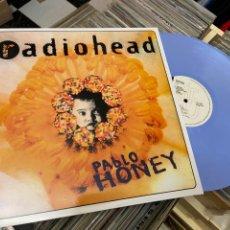 Discos de vinilo: RADIOHEAD PABLO HONEY LP DISCO DE VINILO COLOR AZUL. Lote 285113903