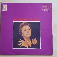 Discos de vinilo: EDITH PIAF - SERIE GIGANTES DE LA CANCION - VOL. 24 - LP VINILO - EMI - 1970. Lote 285131843