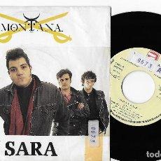 "Discos de vinilo: MONTANA 7"" SPAIN 45 SARA 1989 SINGLE VINILO PROMOCIONAL ROCK & ROLL ROCKABILLY DOBLE CARA A ZAFIRO. Lote 285136108"
