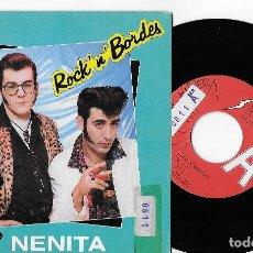 """Discos de vinilo: ROCK´N´BORDES 7"""" SPAIN 45 NENITA + TEDDY GIRL 1990 SINGLE VINILO PROMOCIONAL ROCK & ROLL ROCKABILLY. Lote 285139043"""