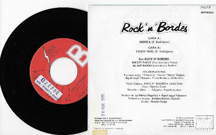 """Discos de vinilo: ROCK´N´BORDES 7"""" SPAIN 45 NENITA + TEDDY GIRL 1990 SINGLE VINILO PROMOCIONAL ROCK & ROLL ROCKABILLY - Foto 2 - 285139043"""