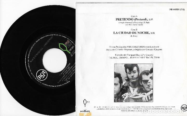 """Discos de vinilo: ROCK´N´BORDES 7"""" SPAIN 45 PRETENDO + LA CIUDAD DE NOCHE 1991 SINGLE VINILO ROCK & ROLL ROCKABILLY !! - Foto 2 - 285143568"""