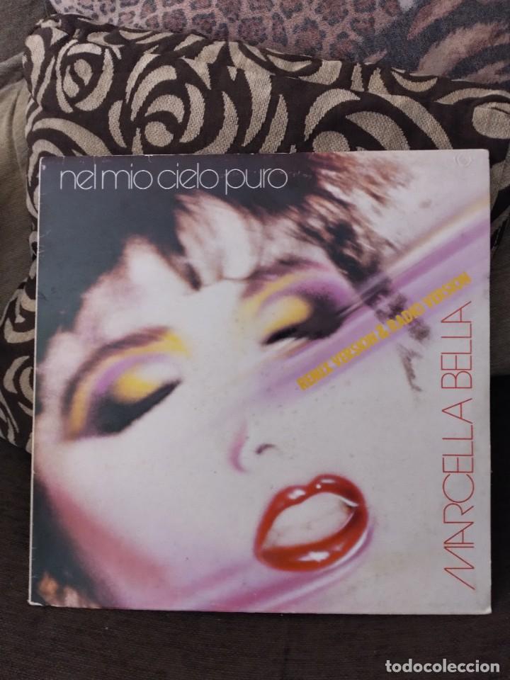 MAXI-SINGLE DE MARCELLA BELLA. NEL MÍO CIELO PURO. EDICIÓN CBS DE 1984 ITALIANA. RARO (Música - Discos de Vinilo - Maxi Singles - Canción Francesa e Italiana)