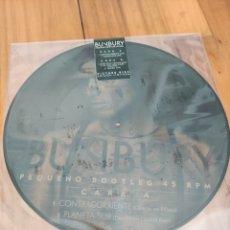 Discos de vinilo: BUNBURY. VINILO PICTURE DISC EDICIÓN LIMITADA. PEQUEÑO BOOTLEG 45 RPM. Lote 285215228
