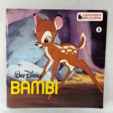 Discos de vinilo: SINGLE BAMBI - CUENTA DISCO BRUGUERA Nº 5 - ESPAÑA. Lote 285223268