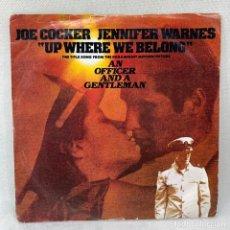 Disques de vinyle: SINGLE JOE COCKER, JENNIFER WARNES - AN OFFICER AND A GENTLEMAN / OFICIAL Y CABALLERO - ESPAÑA - 82. Lote 285226013