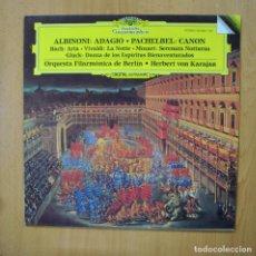 Disques de vinyle: ALBINONI / PACHELBEL - ALBINONI ADAGIO / PACHEBEL CANON - LP. Lote 285279003