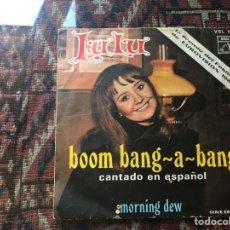 Discos de vinilo: LULÚ. BOOM BANG-A-BANG. PRIMER PREMIO FESTIVAL EUROVISIÓN 1969. Lote 285293483