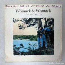 Discos de vinilo: SINGLE WOMACK & WOMACK - LIFE'S JUST A BALLGAME - ESPAÑA - AÑO 1988. Lote 285303163