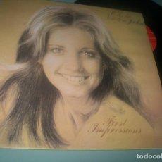 Discos de vinilo: OLIVIA NEWTON JOHN - FIRST IMPRESSIONS ( GRANDES EXITOS ) ..LP EDICION U.K - DISTRIBUIDO - FRANCIA. Lote 285325203