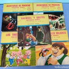 Discos de vinilo: 5 DISCOS SINGLES FLEXIBLES DE CUENTOS PUBLICACION INFANTIL NARRACION SONORA EDITA CASCABEL. Lote 285367798