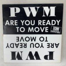 Discos de vinilo: LP - VINILO P.W.M. - ARE YOU READY TO MOVE - ESPAÑA - AÑO 1991. Lote 285382858