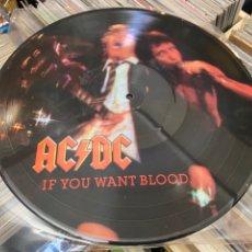 Discos de vinilo: AC/DC IF YOU WANT BLOOD PICTURE LP DISCO DE VINILO. Lote 285384913