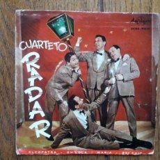 Discos de vinilo: CUARTETO RADAR - CLEOPATRA + OH LOLA + MARIA + SEI CHIC. Lote 285385048