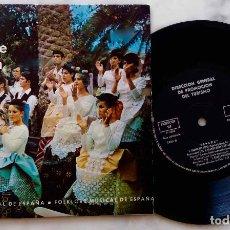 Discos de vinilo: FOLKLORE MUSICAL ESPAÑA,MUÑEIRA PARA BAILE + 5.COROS ROSALÍA DE CASTRO,HESPÉRIDES,CARMEN CORTÉS...EP. Lote 285386608