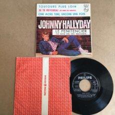 Disques de vinyle: JOHNNY HALLYDAY LE PENITENCIER EP DISCO VINILO ORIGINAL ESPAÑOL PHILIPS 1964 PERFECTO ESTADO SIN USO. Lote 285397508