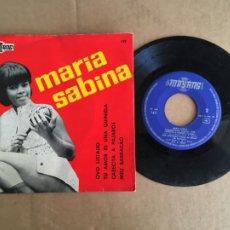 Discos de vinilo: MARIA SABINA OVO LISTADO BOSSA NOVA EP VINILO ORIGINAL ESPAÑOL 1967 PERFECTO ESTADO SIN USO. Lote 285398123