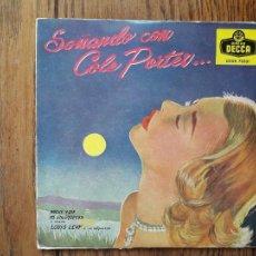 Discos de vinilo: LOUIS LEVY Y SU ORQUESTA - SOÑANDO CON COLE PORTER - NOCHE Y DÍA + ME ENLOQUECES + TE LLEVO DENTRO. Lote 285399078