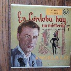 Discos de vinilo: ANGELILLO Y ORQUESTA ACROAMA - EN CÓRDOBA HAY UN MISTERIO + LATIGUILLO DEL TIRULE. Lote 285400088