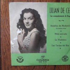 Discos de vinilo: LILIAN DE CELIS - BATALLÓN DE MODISTILLAS + MALA ENTRAÑA + LA VIOLETERA + LAS TARDES DEL RITZ. Lote 285400878