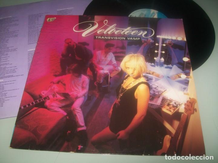 TRANSVISION VAMP - VELVETEEN. .. LP DE 1989 - MCA RECORDS . INCLUYE LETRAS - GEMA (Música - Discos - LP Vinilo - Pop - Rock - New Wave Internacional de los 80)