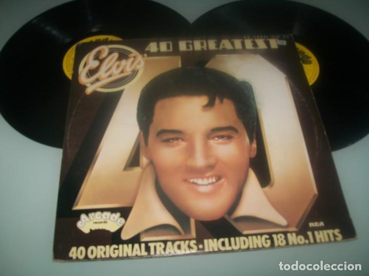 ELVIS PRESLEY - 40 GREATEST ..2 LP´S DE ARCADE RECORDS - CARPETA ABIERTA . EDICION U.K (Música - Discos - LP Vinilo - Rock & Roll)
