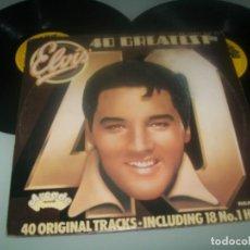 Discos de vinilo: ELVIS PRESLEY - 40 GREATEST ..2 LP´S DE ARCADE RECORDS - CARPETA ABIERTA . EDICION U.K. Lote 285411228